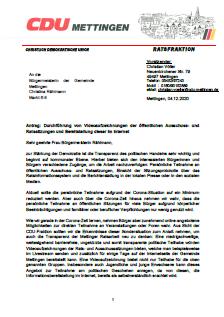 CDU Antrag Durchführung von Videoaufzeichnungen